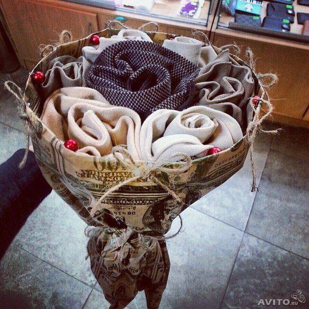 Букеты из носков в подарок